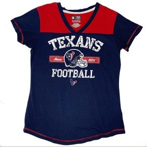Houston Texans Football Top Womens Small Navy Red
